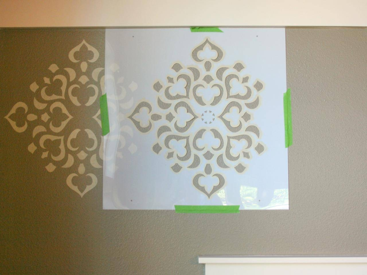 How To Stencil A Focal Wall | Hgtv In Most Up To Date Space Stencils For Walls (View 5 of 20)