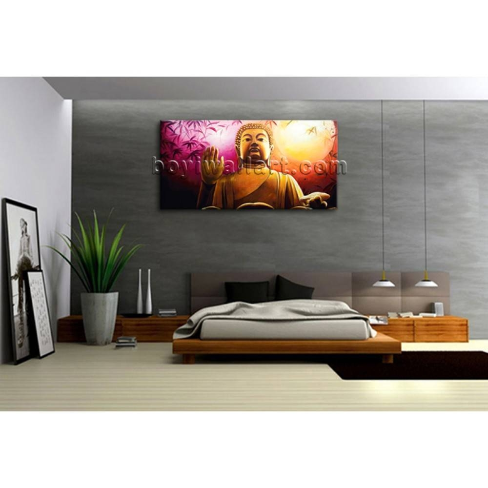 Huge Abstract Feng Shui Painting Print Canvas Wall Art Buddha Regarding Recent Feng Shui Wall Art (View 11 of 20)
