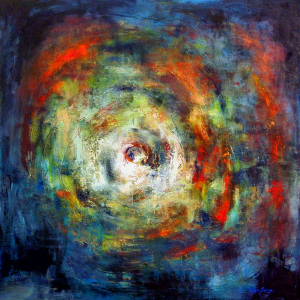 Huge Vortex Art Abstract Painting On Canvas – 48X48 – Modern Wall Regarding Most Recently Released 48X48 Canvas Wall Art (View 13 of 20)