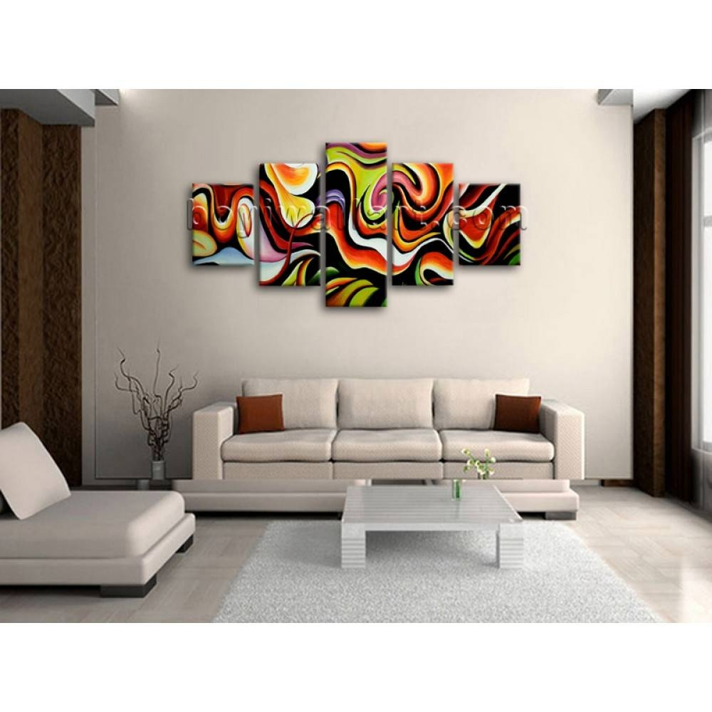 Huge Wall Art Abstract Painting Home Decoration Ideas Canvas Print With Regard To Most Recent Huge Wall Art (View 11 of 20)