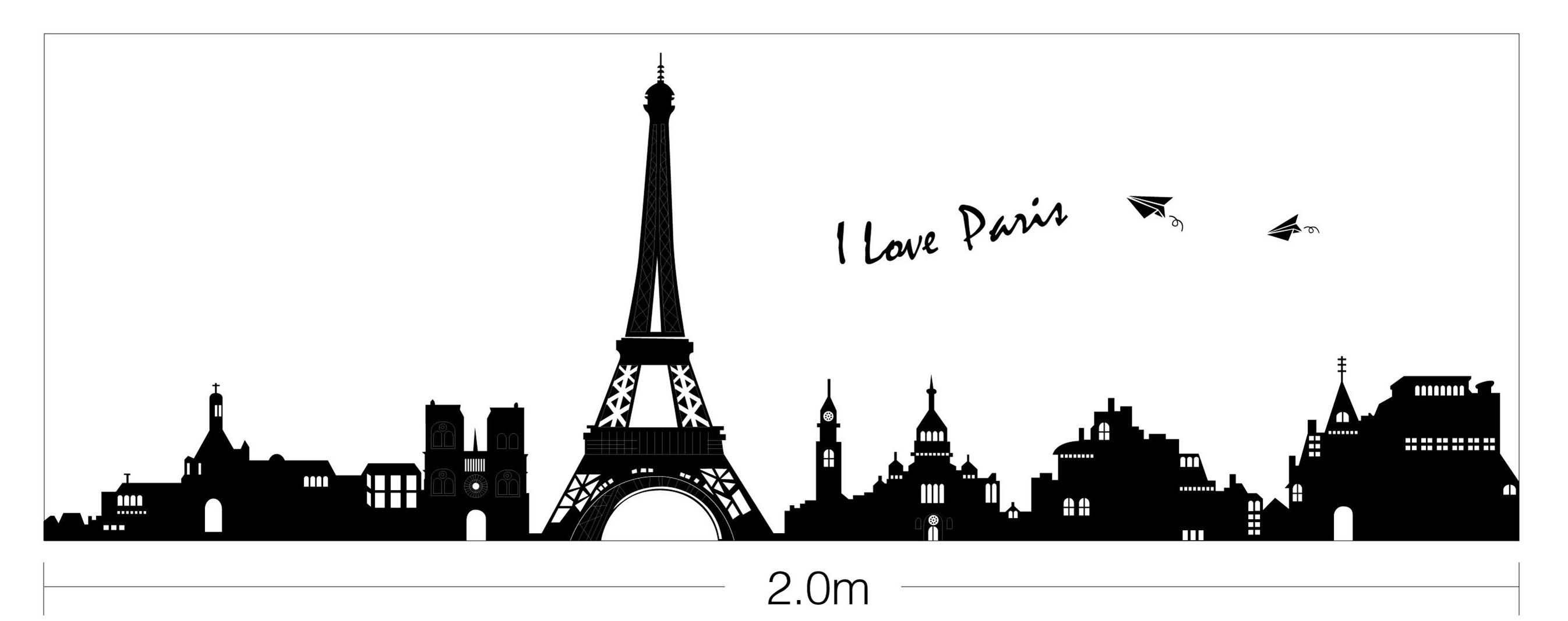 I Love Paris La Tour Eiffel Wall Stickers Removable Home Decal Art With Regard To Recent Paris Stickers (View 8 of 15)