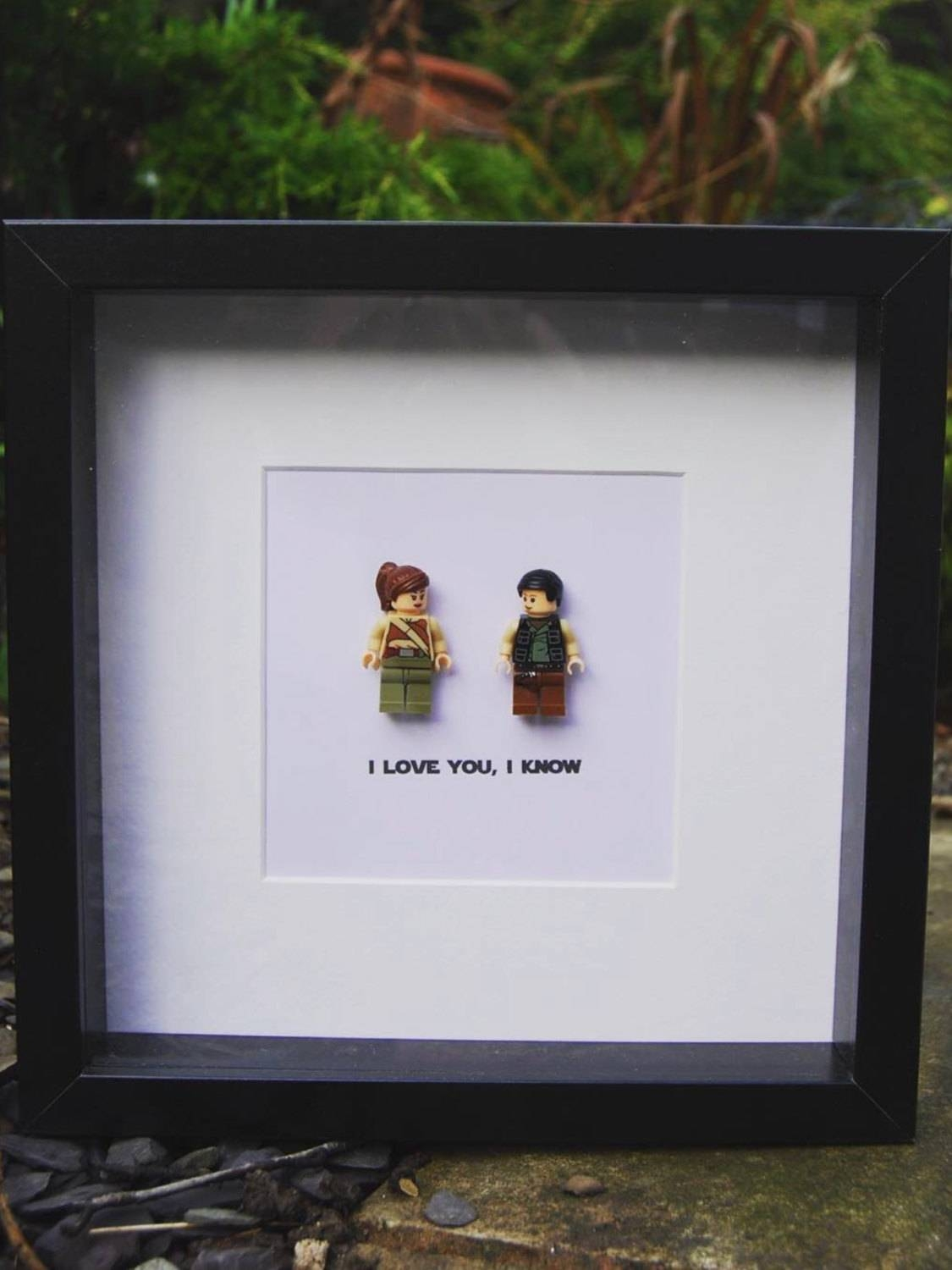 I Love You I Know Star Wars Princess Leia & Han Solo Replica With Most Up To Date Lego Star Wars Wall Art (Gallery 8 of 20)