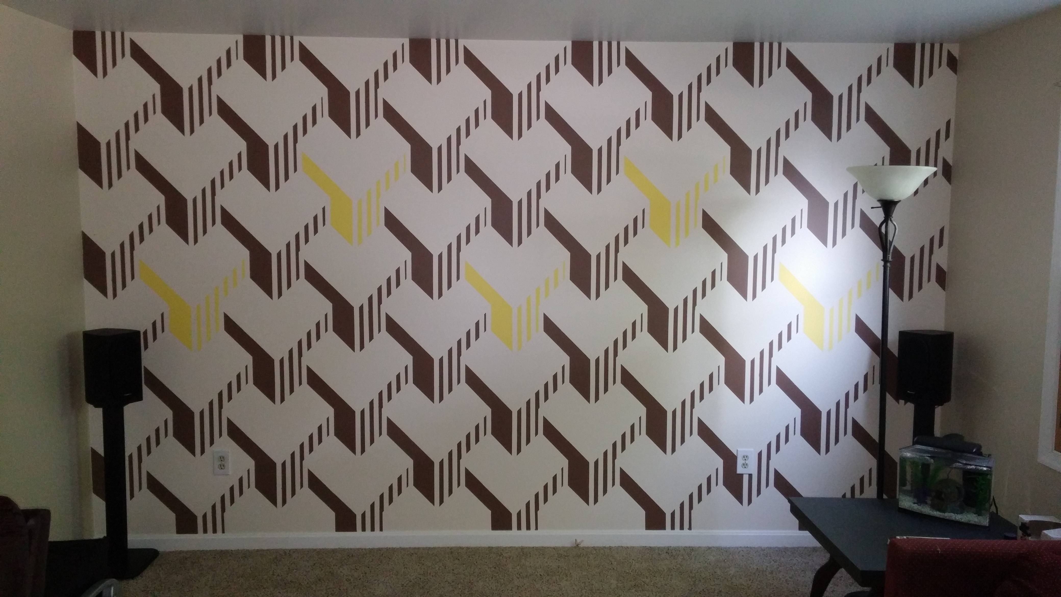 I Painted My Living Room Wall. – Album On Imgur For Most Up To Date Cubes 3d Wall Art (Gallery 3 of 20)
