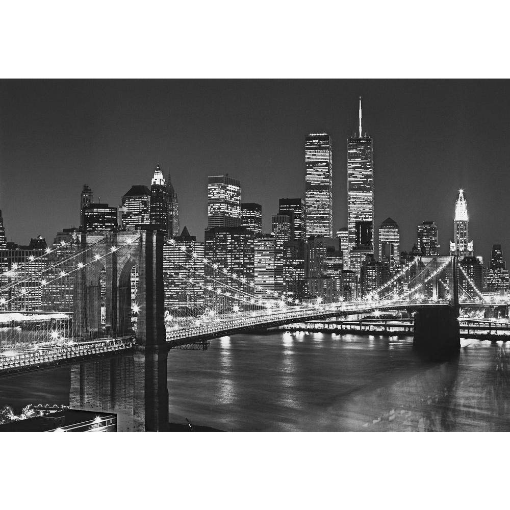 Ideal Decor 100 In. X 144 In. Brooklyn Bridge Wall Mural Dm114 For Best And Newest Brooklyn Bridge Wall Decals (Gallery 8 of 25)