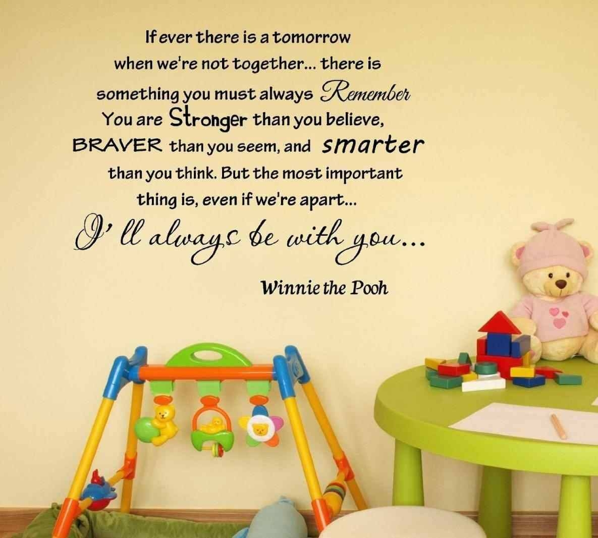 Ideas Decorating A Nursery With Decorating Classic Winnie The Pooh For 2017 Winnie The Pooh Nursery Quotes Wall Art (Gallery 11 of 20)