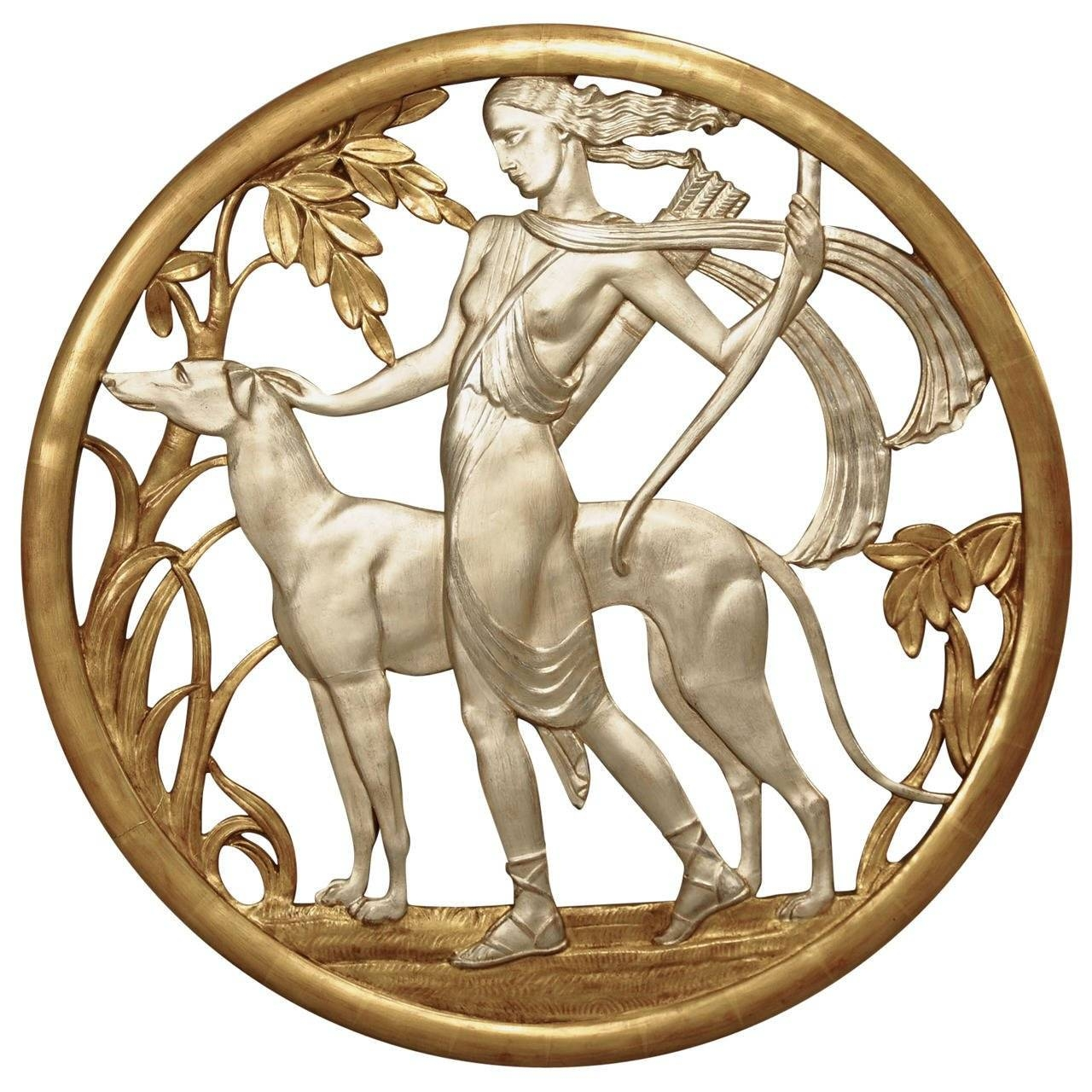 Important Art Deco Mythological Gilt Wall Plaque For Sale At 1stdibs Intended For Latest Art Deco Metal Wall Art (View 5 of 20)