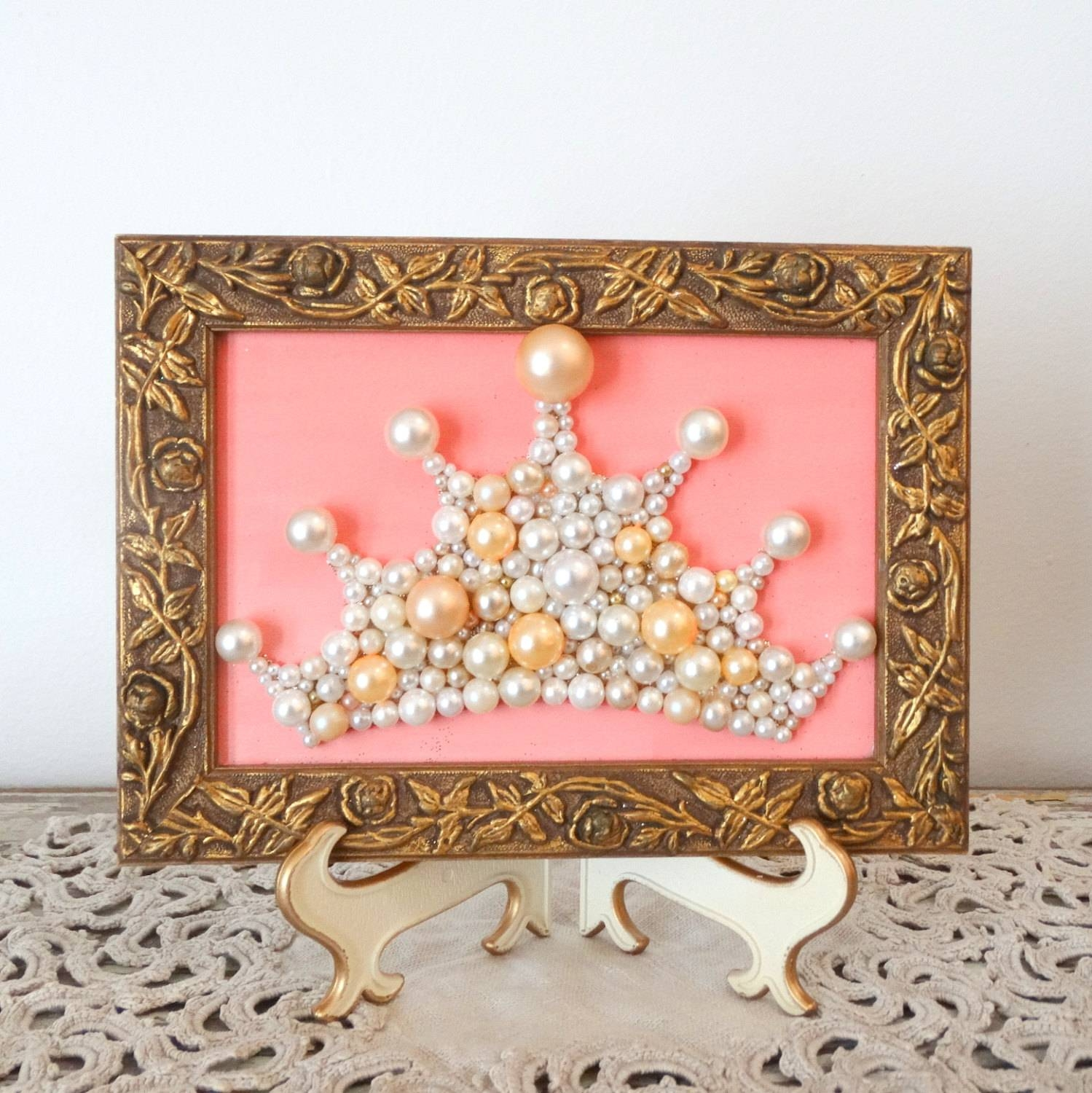 Impressive Princess Crown Wall Art Free Shipping Princess Crown Throughout Latest Princess Crown Wall Art (View 15 of 25)