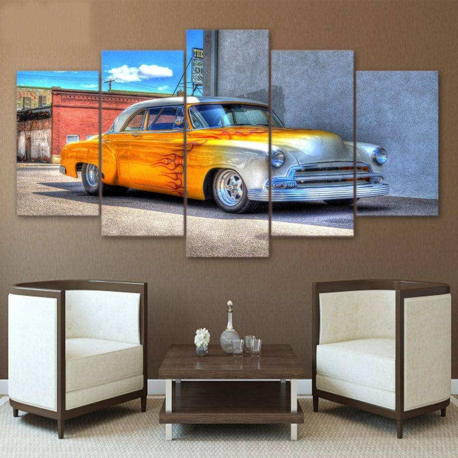 Impressive Race Car Wall Art Poster Wall Art Canvas Car Wall Art Throughout Best And Newest Classic Car Wall Art (View 15 of 25)