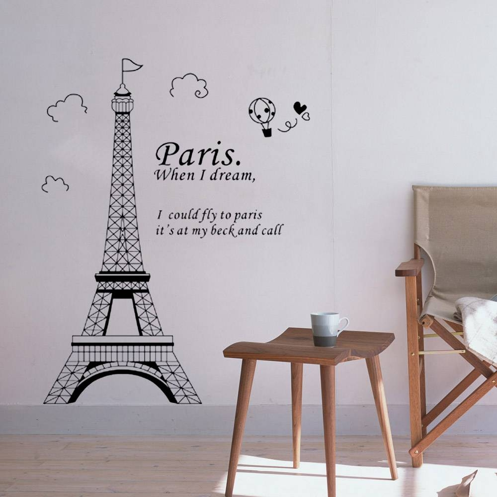 Impressive Wall Ideas Paris Wall Decals Walmart Design Decor Wall Within Recent Paris Themed Wall Art (View 10 of 20)