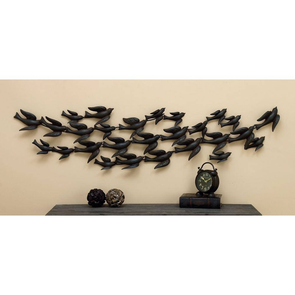 In Flight 69 In. Flock Of Birds Metal Wall Sculpture 55522 – The In 2018 Flock Of Birds Metal Wall Art (Gallery 13 of 30)