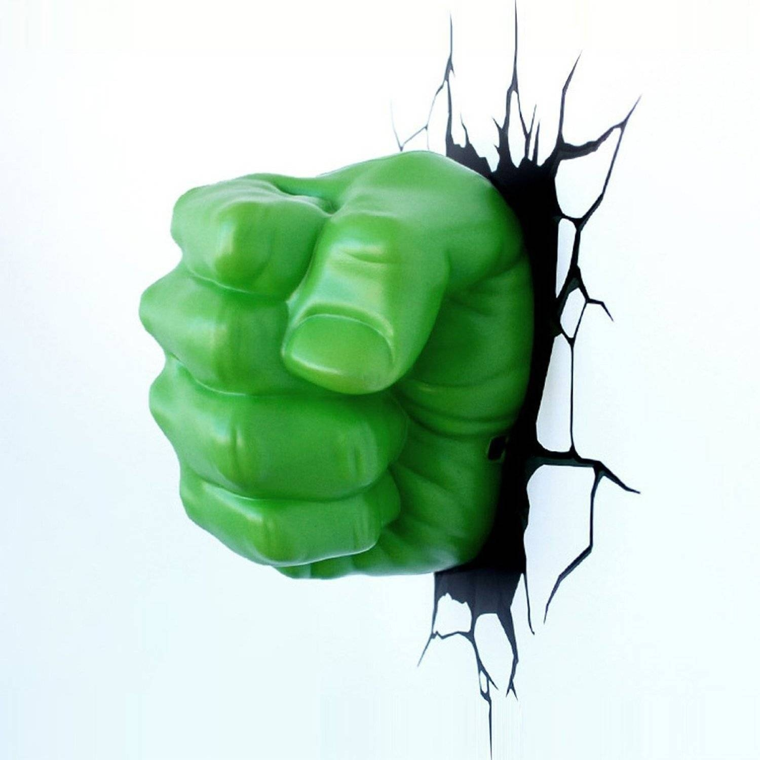 Incredible Hulk Fist Smash 3D Wall Light – Lolcoolstuff Throughout 2017 Hulk Hand 3D Wall Art (View 12 of 20)