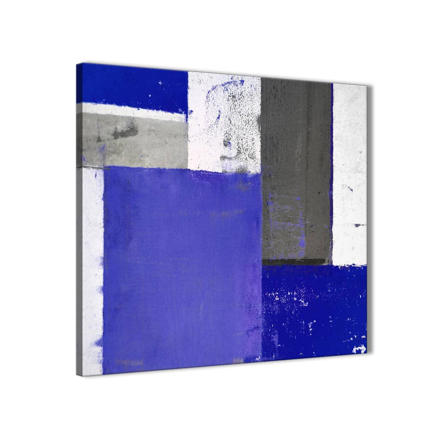 Indigo Navy Blue Abstract Painting Canvas Wall Art Print – Modern Regarding Most Current Navy Blue Wall Art (Gallery 19 of 20)