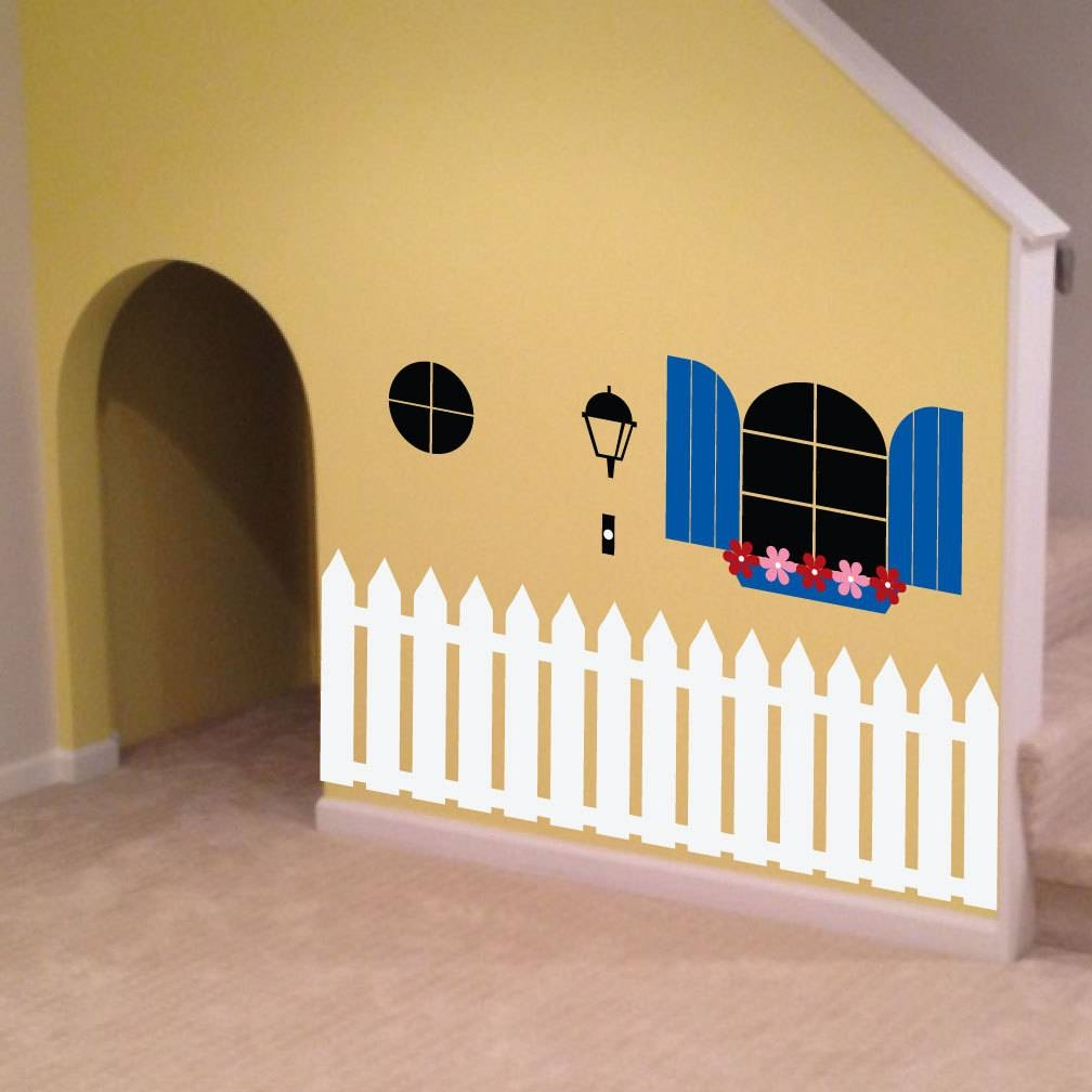 Indoor Playhouse Decal 0088 Kids Wall Art Playroom Decal In Most Up To Date Etsy Childrens Wall Art (View 12 of 20)