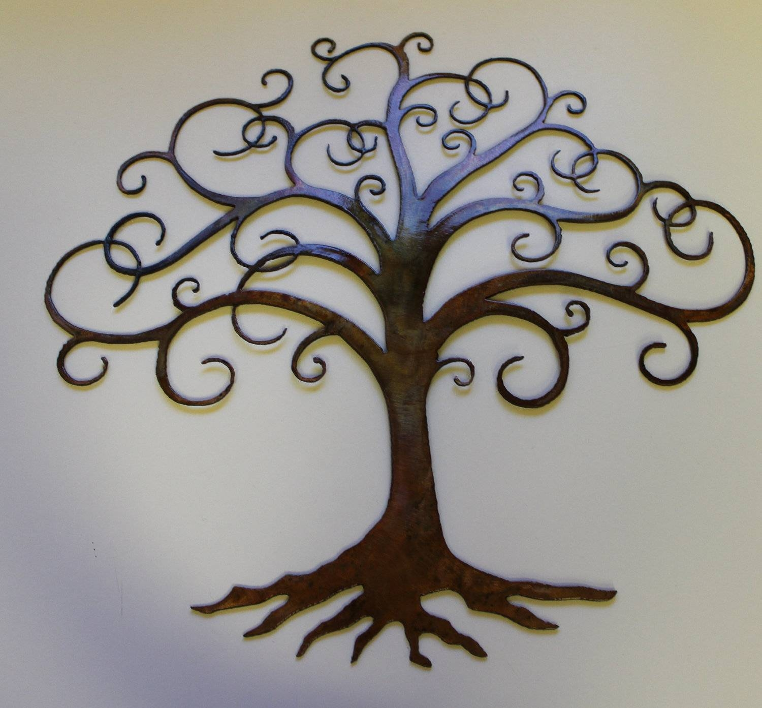 Innovative Large Metal Tree Wall Decoration 128 Oak Tree Large Within Most Popular Oak Tree Metal Wall Art (Gallery 4 of 30)