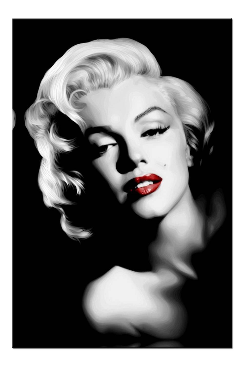 Inspiration 90+ Marilyn Monroe Canvas Wall Art Inspiration Of Within Most Recently Released Marilyn Monroe Black And White Wall Art (View 7 of 15)