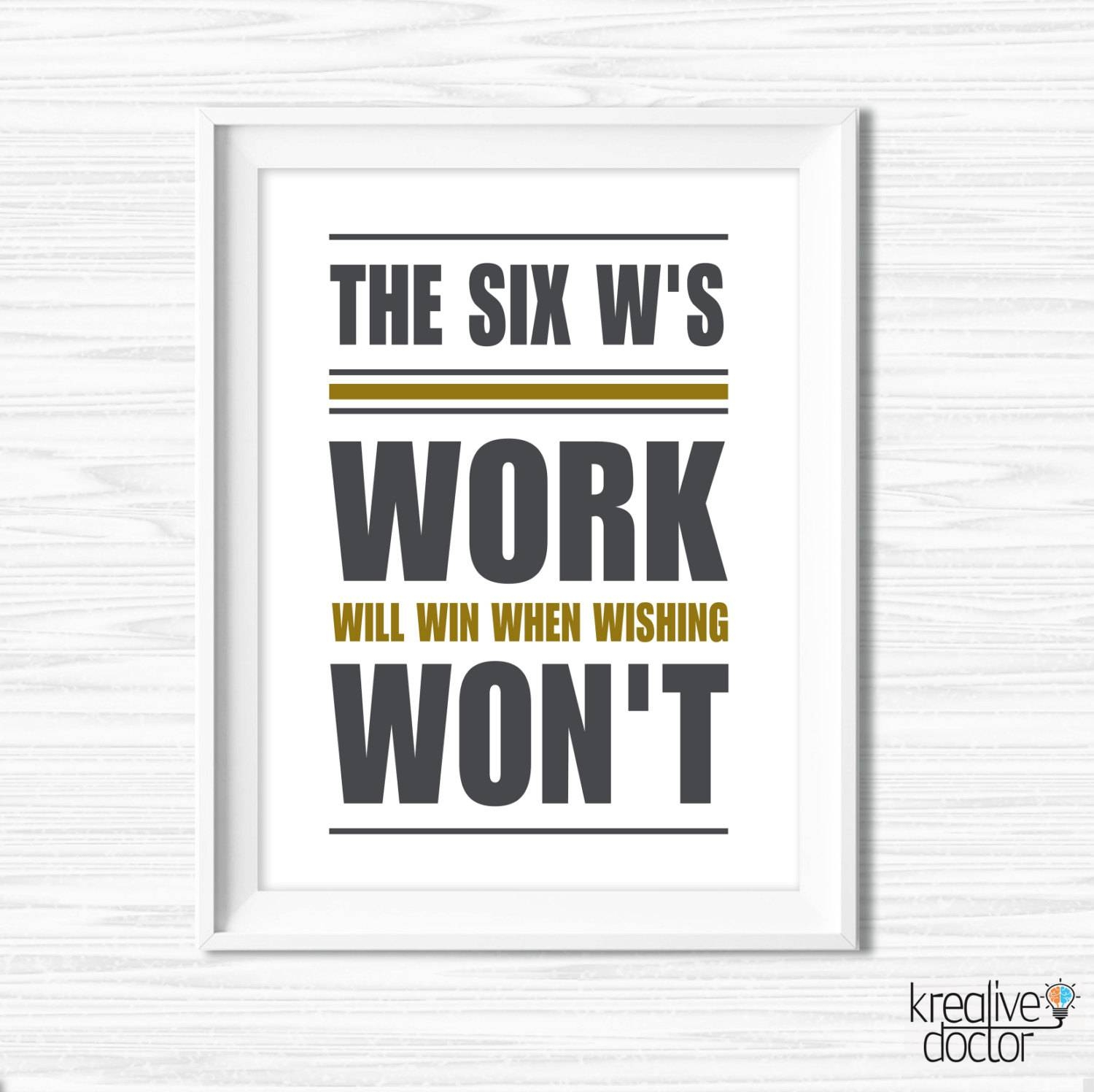 Inspiration Quote Office Decor Printable Office Wall Art For Most Up To  Date Inspirational Wall Art