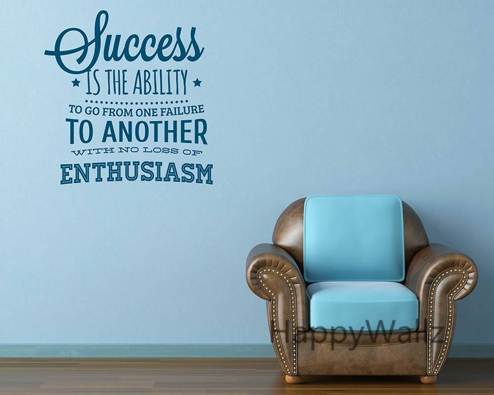 Inspirational Wall Art Stickers Throughout Latest Inspirational Sayings Wall Art (View 12 of 30)