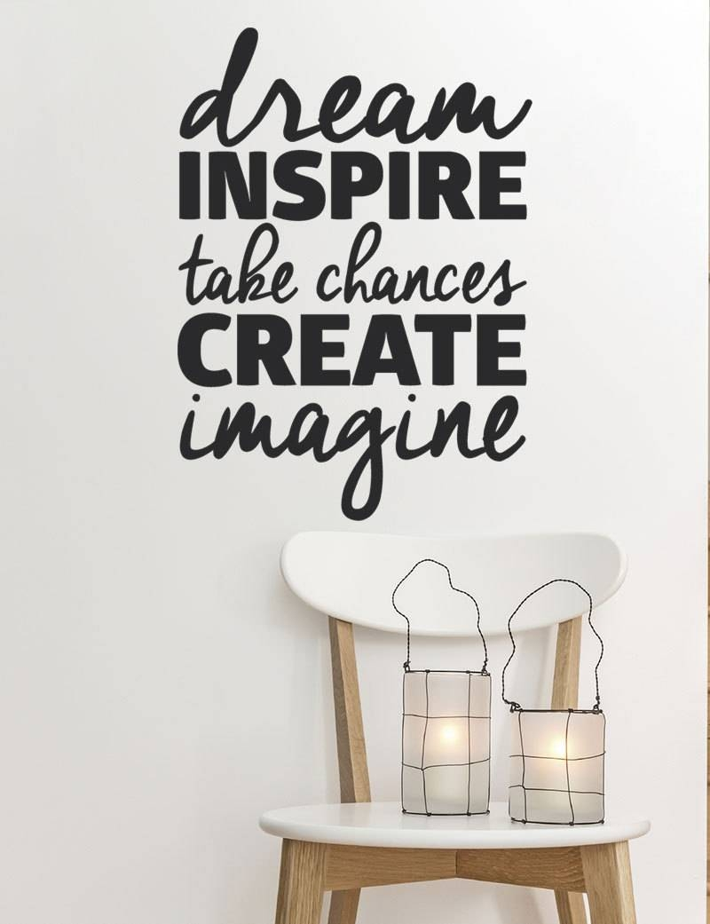 Inspirational Wall Decal Home Office Quotes Motivational Inside Most Recent Inspirational Wall Decals For Office (Gallery 5 of 20)