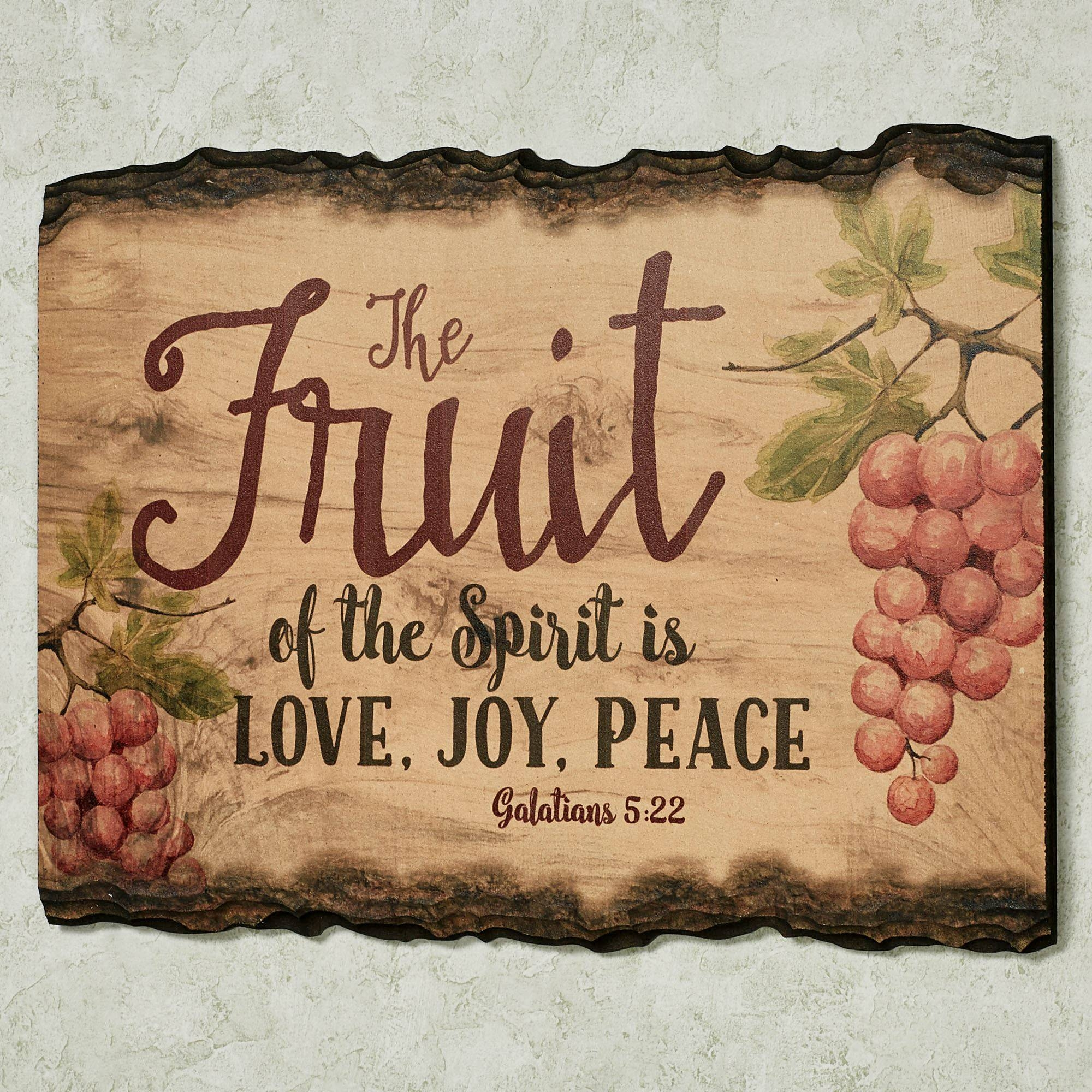 Inspirational Wall Plaques | Touch Of Class In Most Popular Fruit Of The Spirit Wall Art (Gallery 16 of 30)