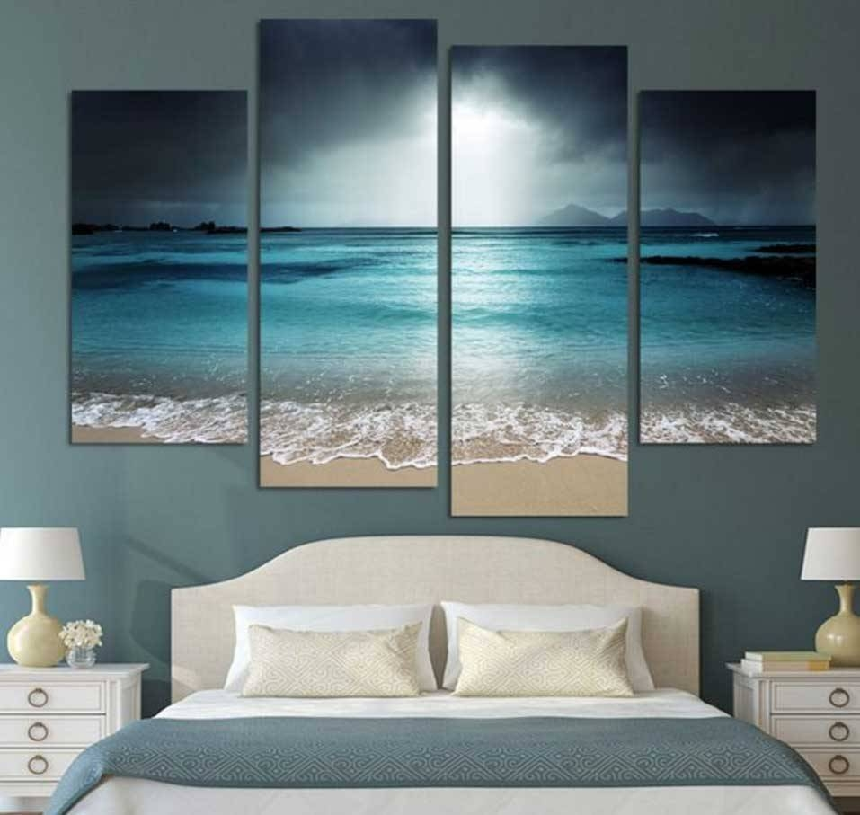 Inspiring Beach Wall Art Decoration Ideas | Home Interior & Exterior For Most Recent Beach Wall Art For Bedroom (Gallery 9 of 20)