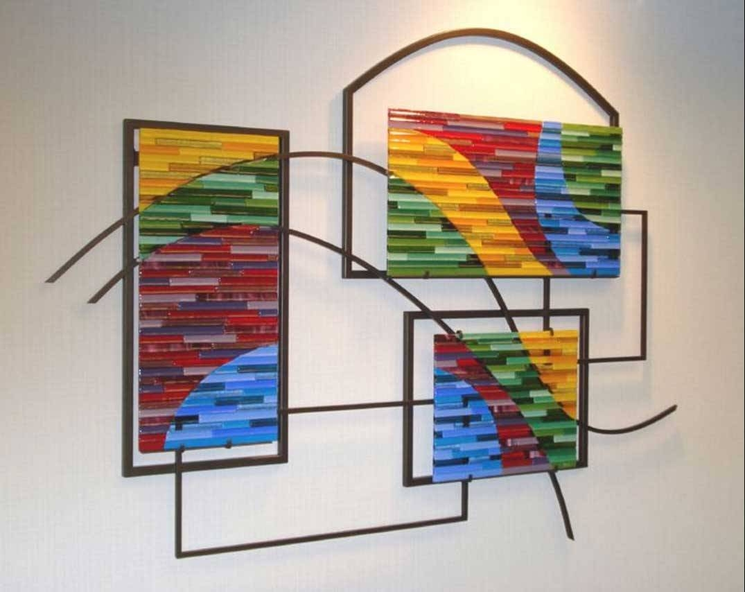 25 best ideas of fused glass wall art panels for Outdoor glass wall panels
