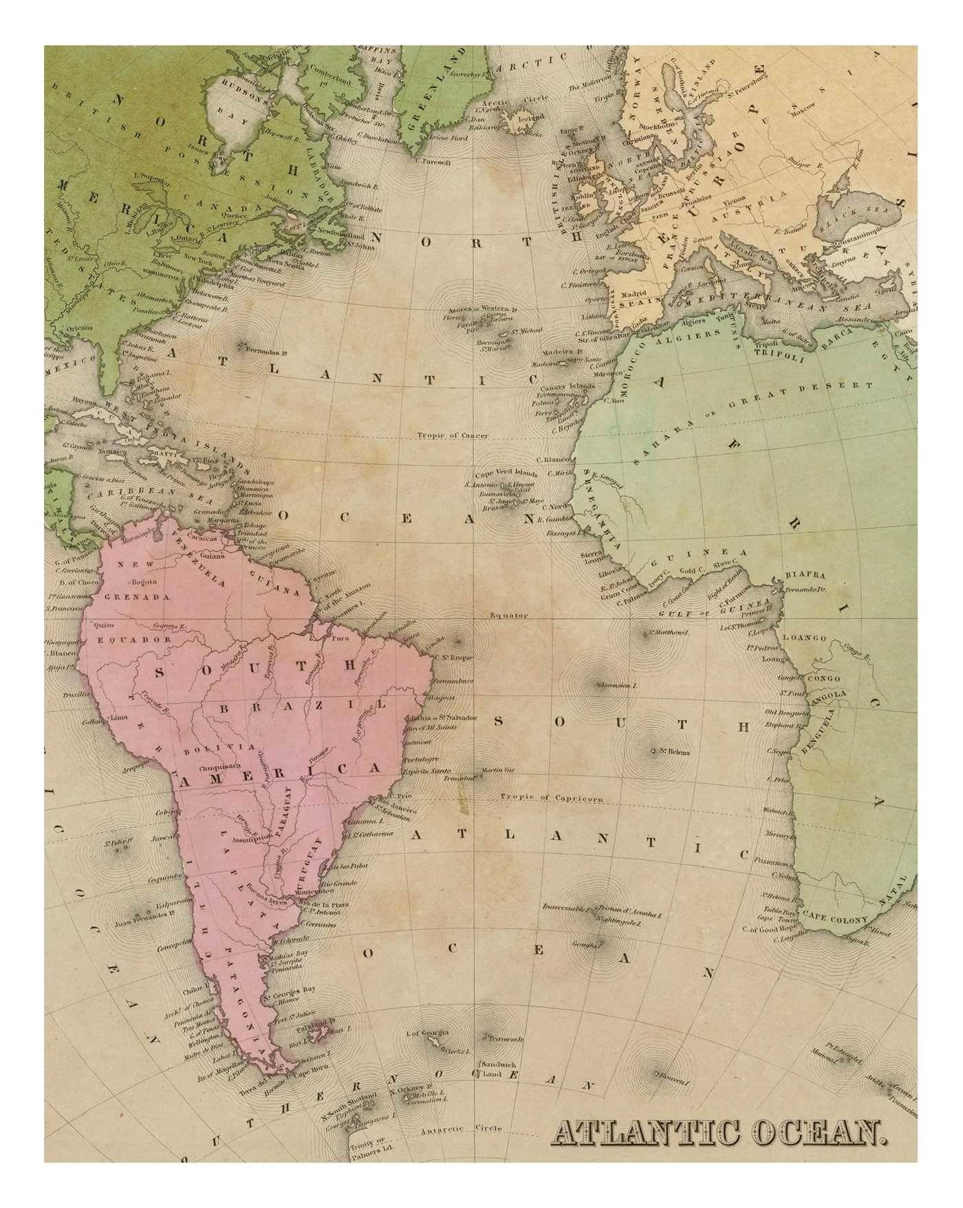 Instant Wall Art – Vintage Map Prints | Bookadams Media Intended For 2018 Vintage Map Wall Art (View 7 of 20)