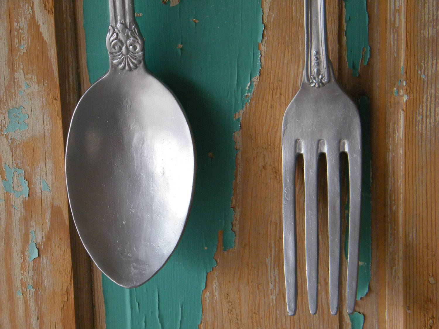 Interesting Decoration Large Fork And Spoon Wall Decor Vibrant Inside Current Big Spoon And Fork Wall Decor (View 19 of 30)