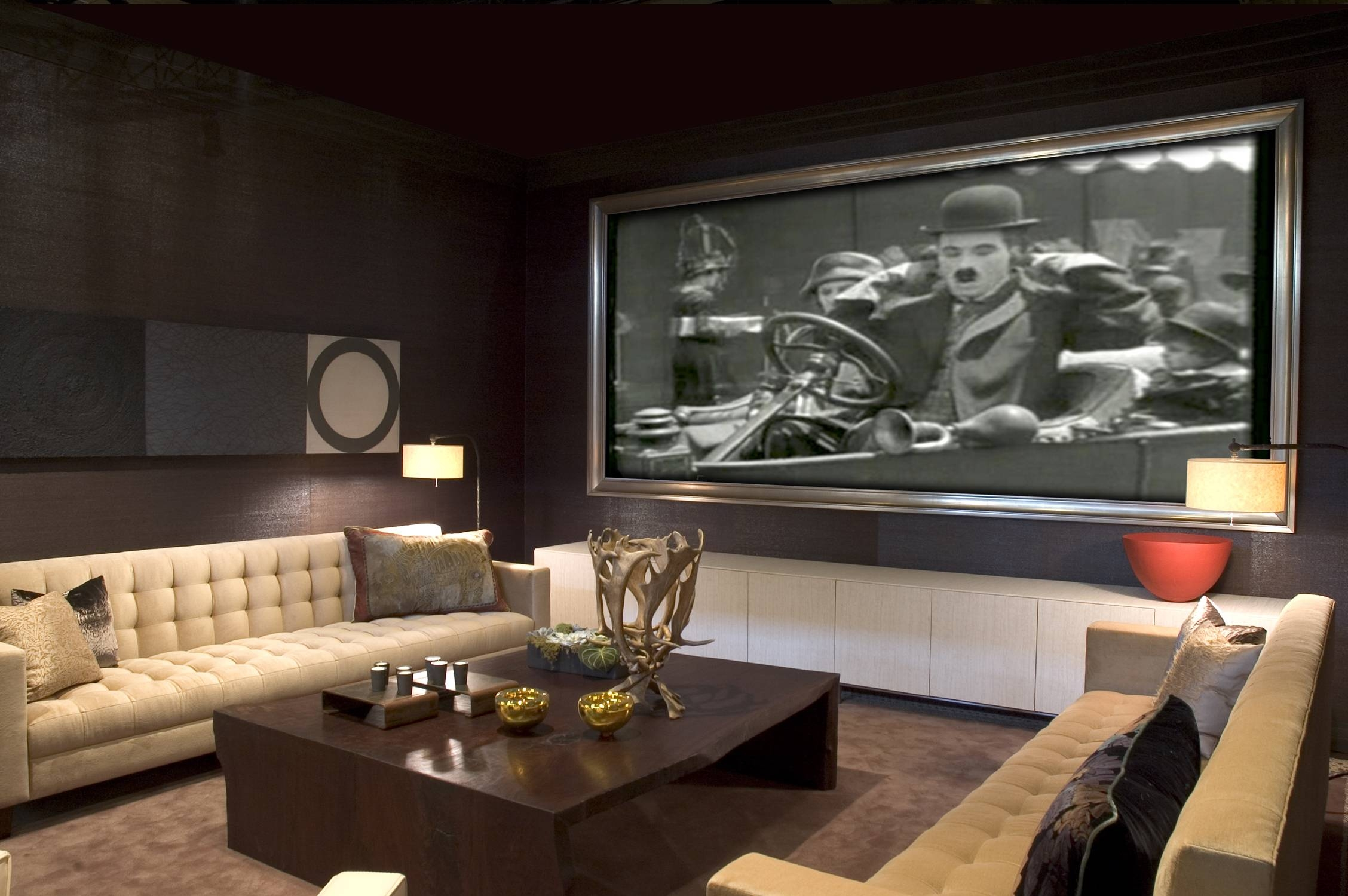 Interiors Furniture & Design: Media Rooms Designs Pertaining To Newest Media Room Wall Art (View 12 of 20)