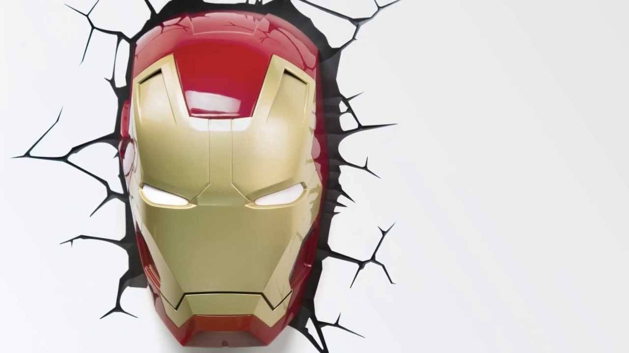 Iron Man 3 Clip Art (50+) Throughout Current 3d Wall Art Iron Man Night Light (View 4 of 20)