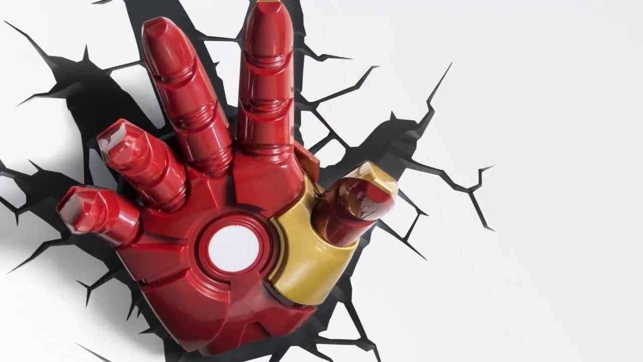 Iron Man Glove Clipart – Clipground Within Most Popular 3D Wall Art Iron Man Night Light (View 7 of 20)
