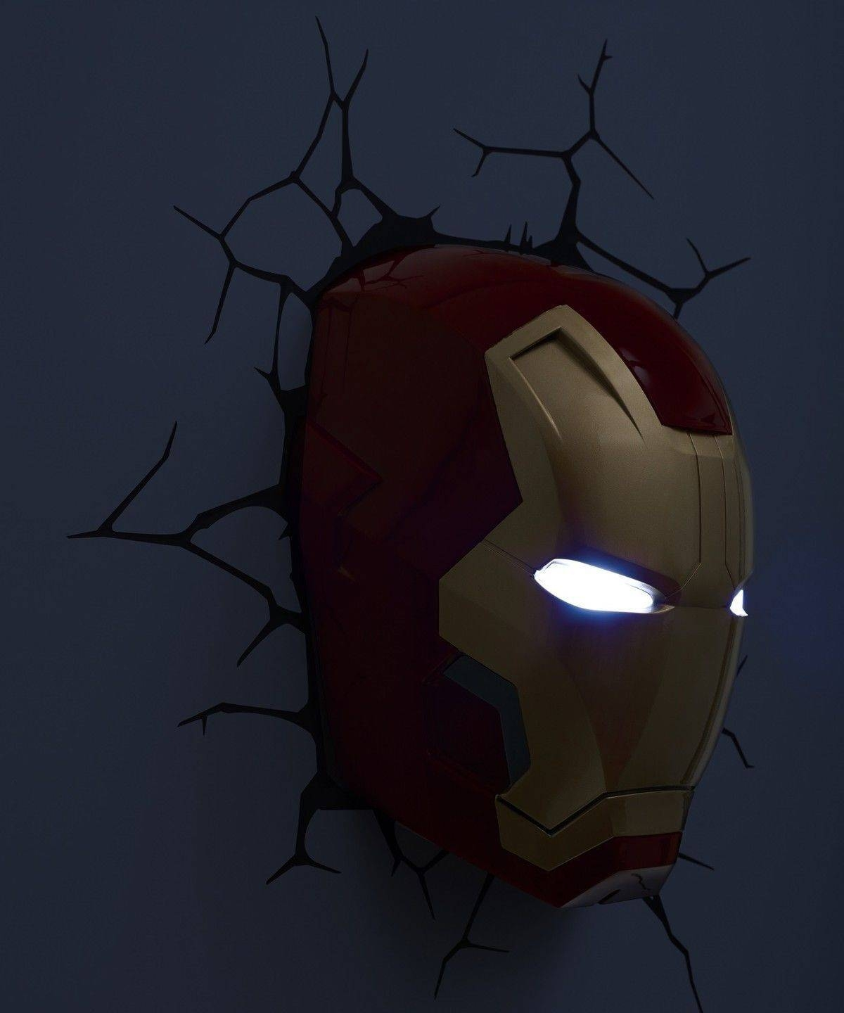 Iron Man Marvel Childrens Kid Bedroom 3D Deco Phillips Wall Night Within Most Up To Date 3D Wall Art Iron Man Night Light (View 12 of 20)