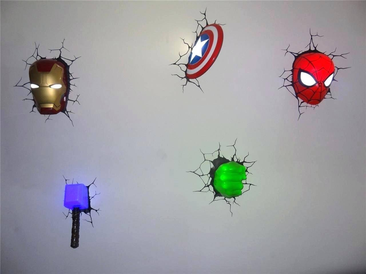 Ironman Wall Light Avengers With Marvel Art Night S Combo Iron Man Intended For Recent 3d Wall Art Iron Man Night Light (View 10 of 20)