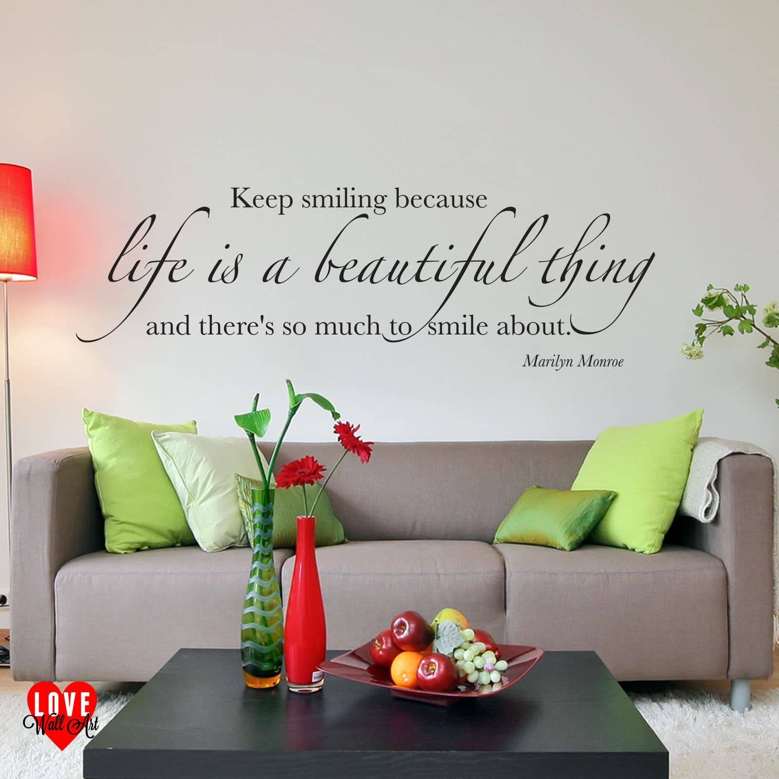 Is A Beautiful Thing Marilyn Monroe Quote Wall Art Sticker Throughout 2018 Marilyn Monroe Wall Art (Gallery 13 of 25)