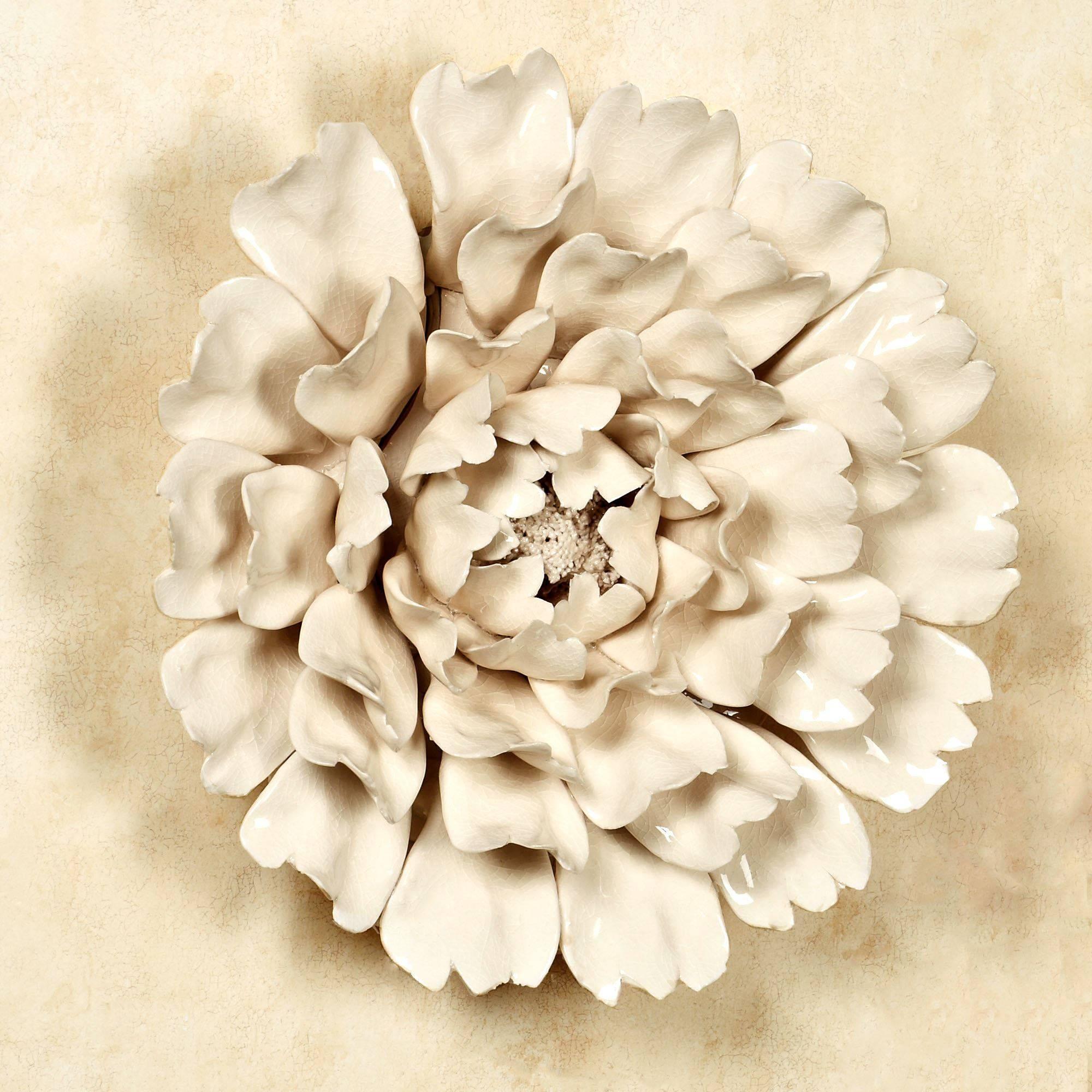 Isabella Ceramic Flower Blossom Wall Art Intended For Latest Ceramic Flower Wall Art (Gallery 3 of 30)