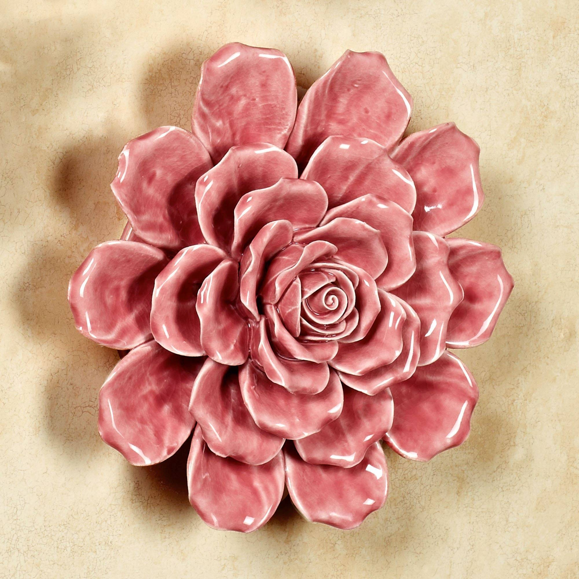 Isabella Ceramic Flower Blossom Wall Art Pertaining To 2018 Ceramic Flower Wall Art (Gallery 9 of 30)