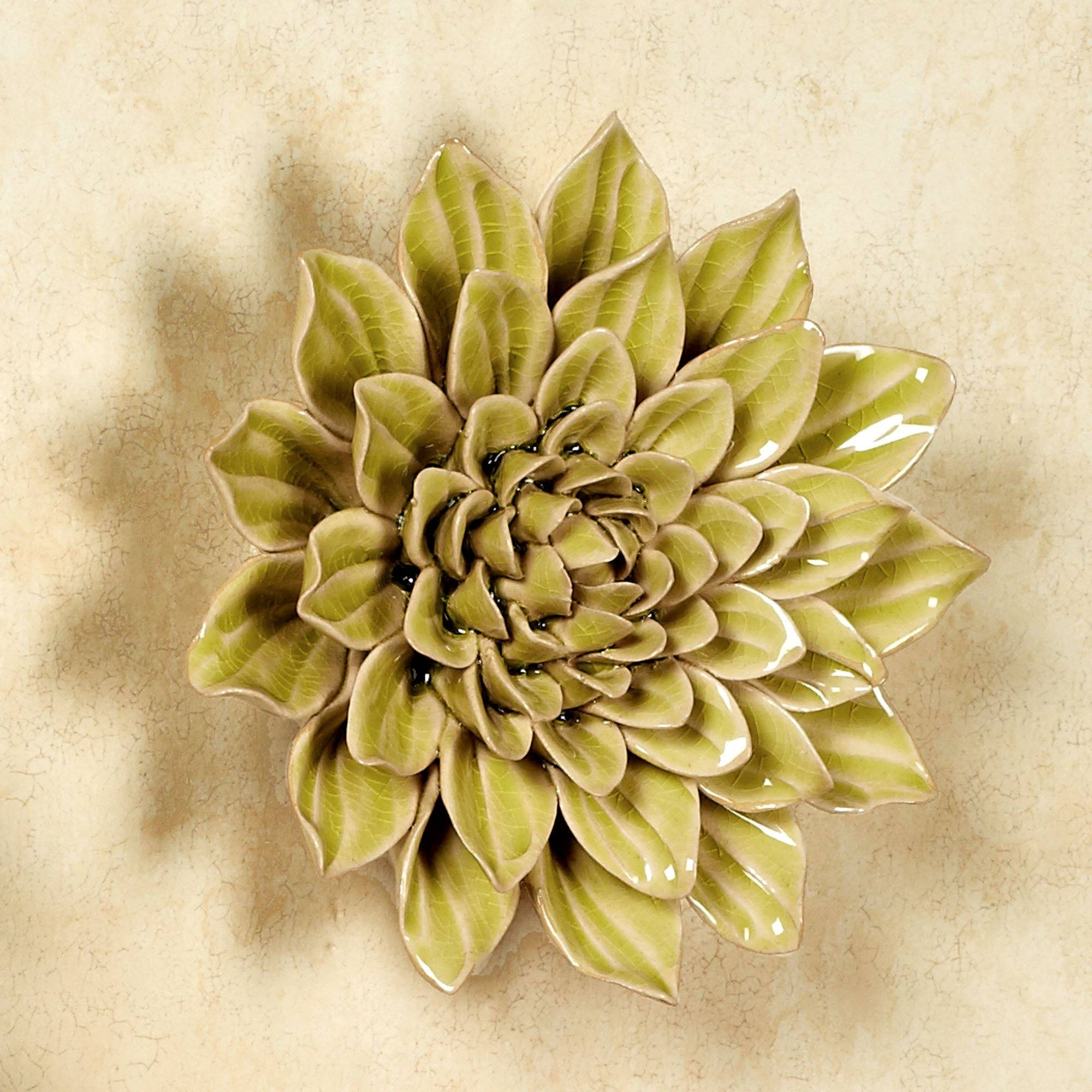 Isabella Ceramic Flower Blossom Wall Art Throughout Recent Italian Ceramic Wall Art (Gallery 1 of 30)