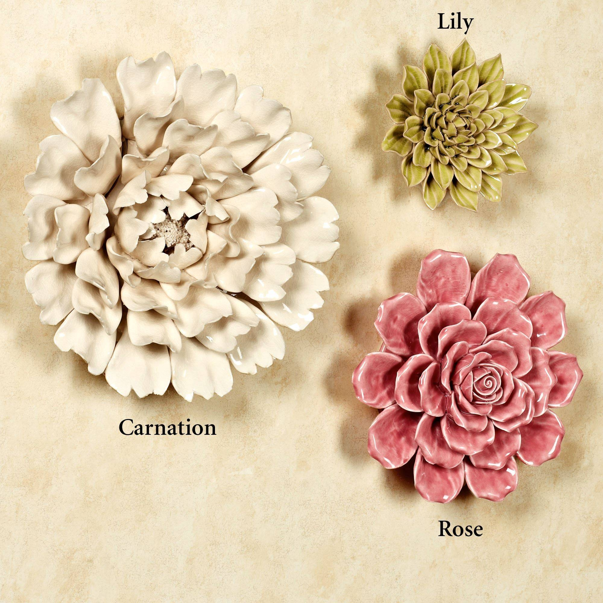 Isabella Ceramic Flower Blossom Wall Art With Most Recently Released Ceramic Flower Wall Art (View 17 of 30)