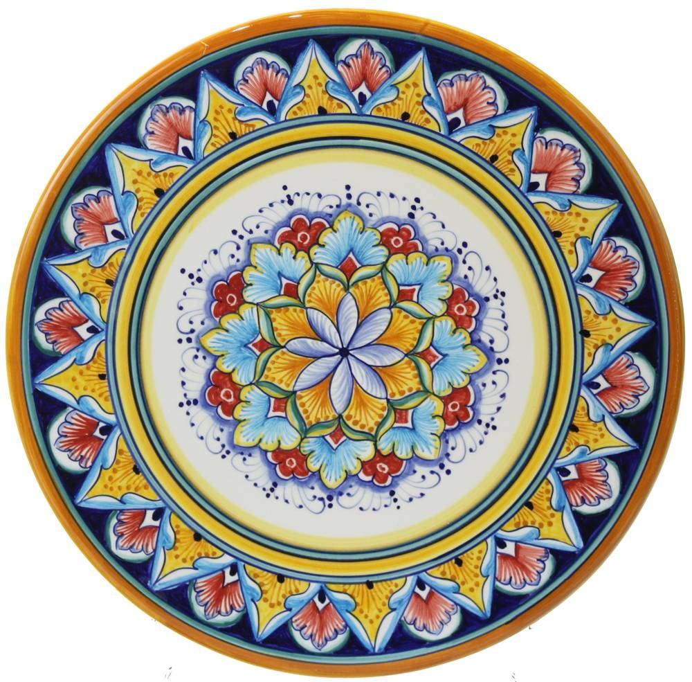 Italian Majolica Ceramic Cheese Plate Within Most Recently Released Italian Ceramic Wall Art (Gallery 3 of 30)