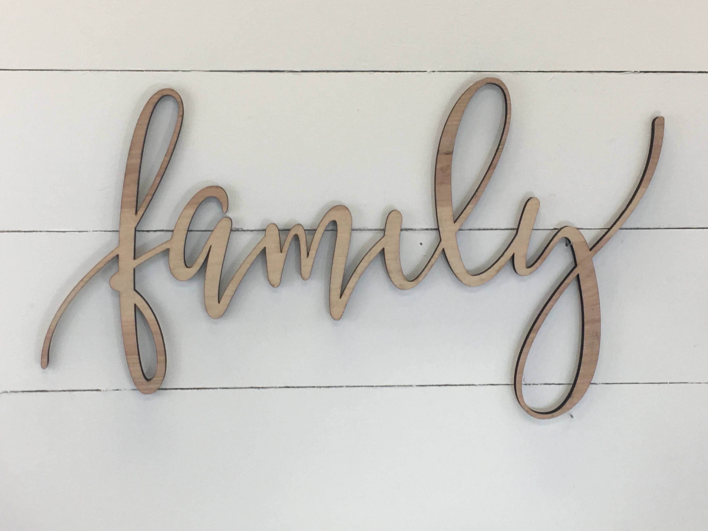 Items Similar To Just Smile Wooden Words Decorative Wood Letters With Newest Wooden Words Wall Art (Gallery 6 of 30)