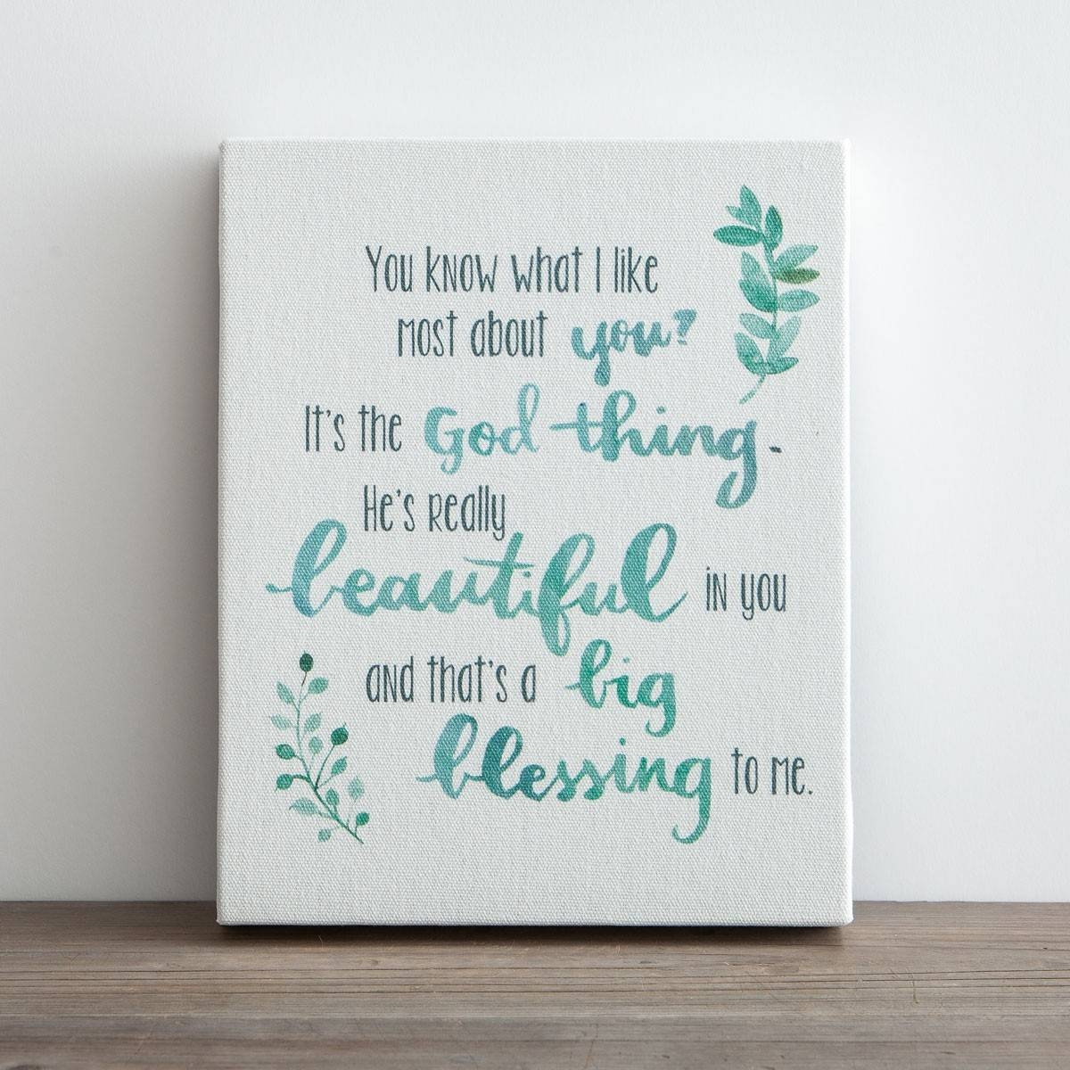 Superior Itu0027s The God Thing U2013 Printed Canvas Block | Dayspring Regarding Most  Current Christian Canvas Wall