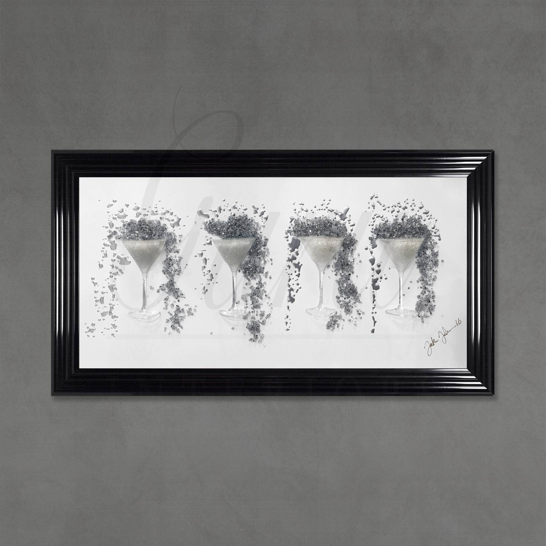 Jake Johnson Martini Silver Glass 3d Wall Art Throughout Most Popular Martini Metal Wall Art (View 18 of 30)