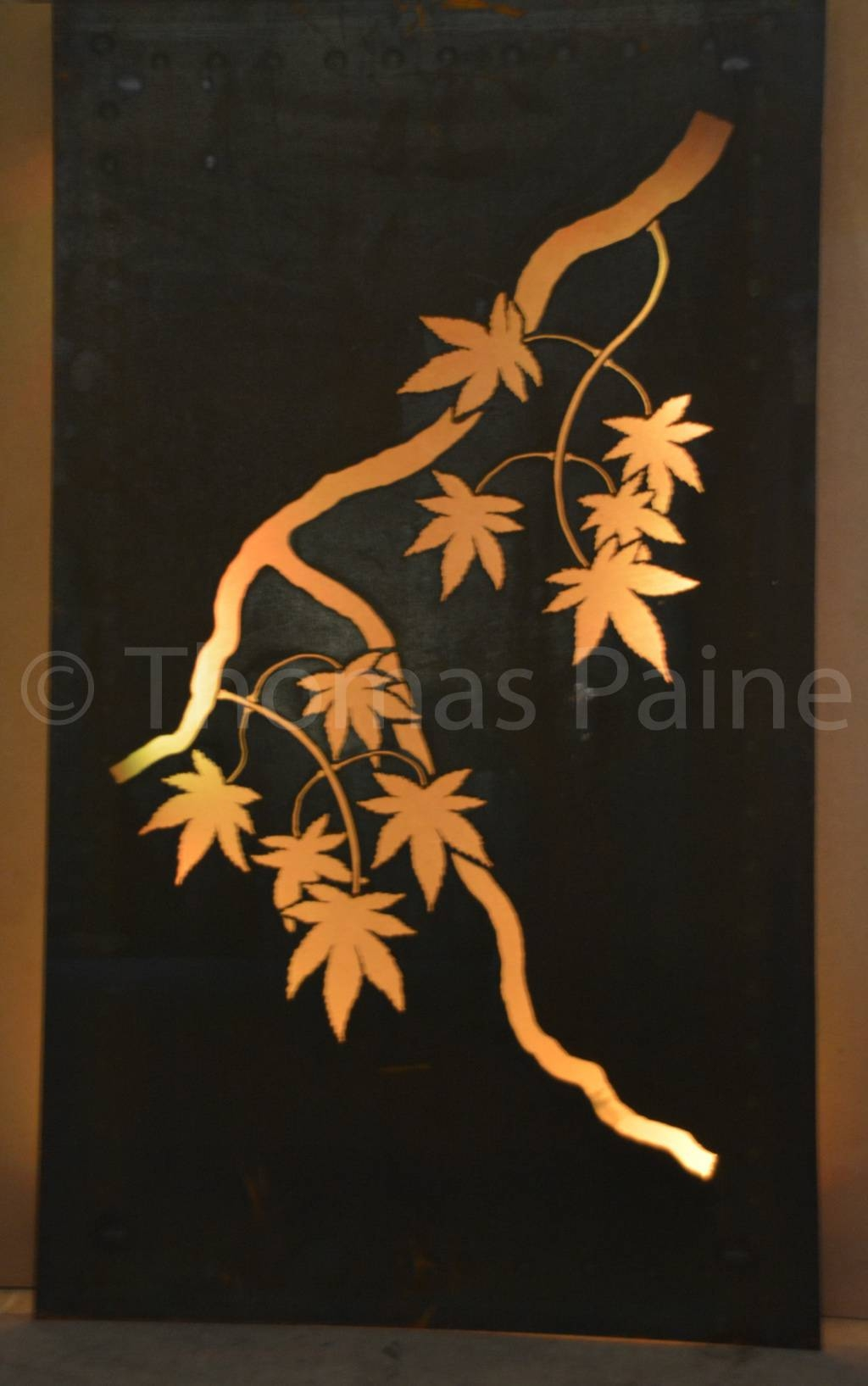 Japanese Maple Solar Lit Panel | Two Or Three D Designs Pertaining To Most Recent Japanese Wall Art Panels (Gallery 1 of 25)