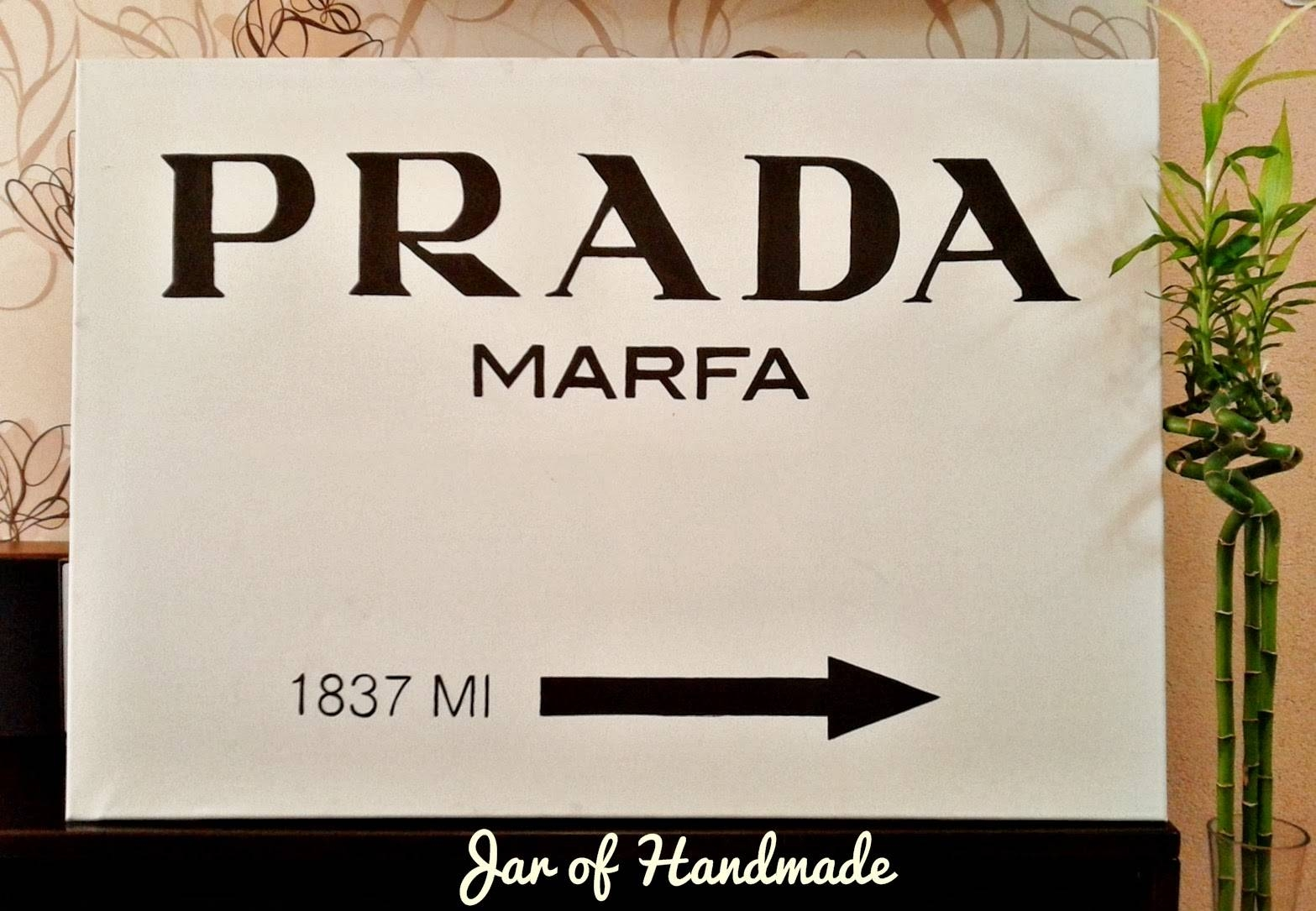 Jar Of Handmade: Diy: Prada Marfa Wall Art Pertaining To Recent Prada Wall Art (View 18 of 25)