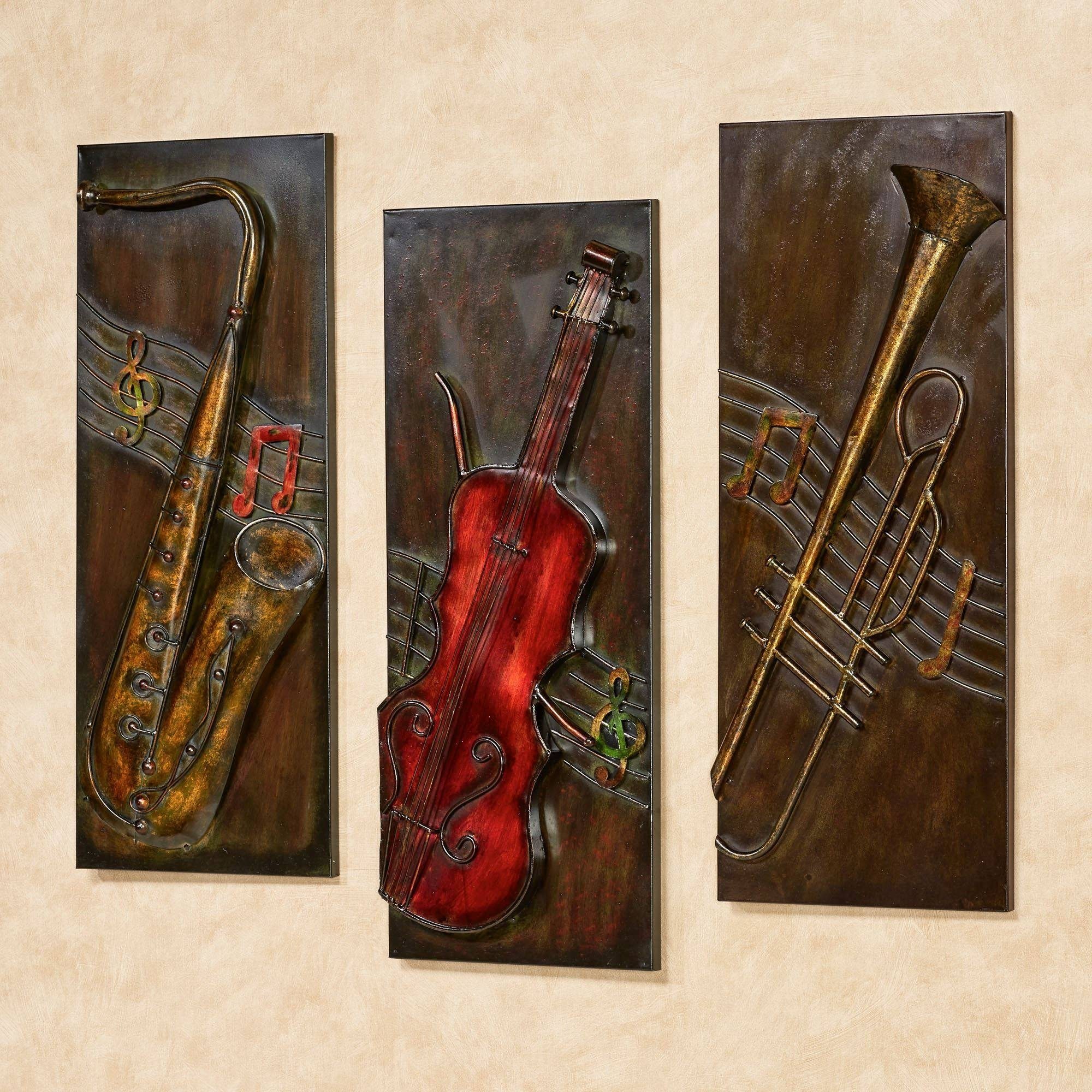 Jazz It Up Metal Wall Art Set Inside Best And Newest Metal Music Wall Art (View 5 of 20)