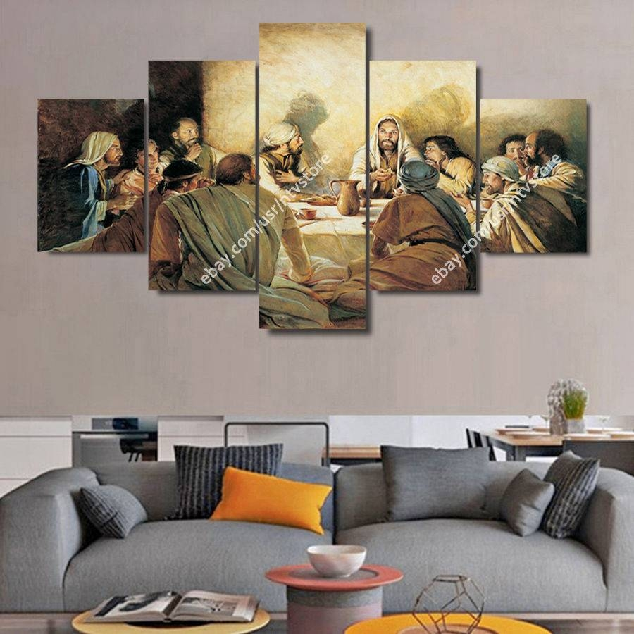 Jesus Christ Wall Art Framed Canvas Print The Last Supper Pertaining To Latest Christian Canvas Wall Art (View 9 of 20)