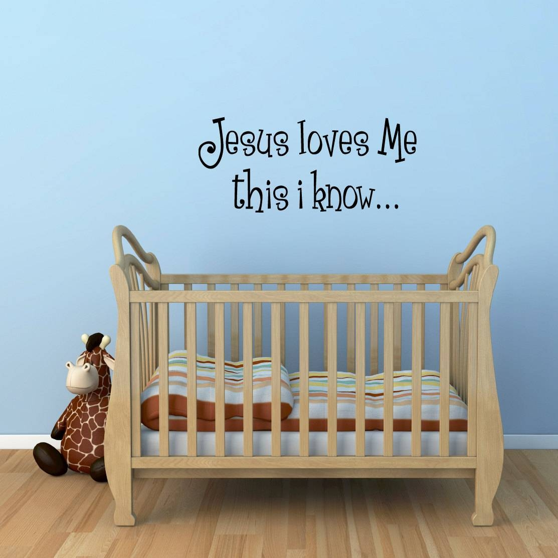 Jesus Loves Me Wall Decal Bible Verse Wall Sticker within 2018 Nursery Bible Verses Wall Decals