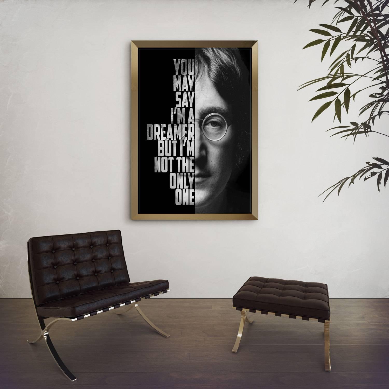 John Lennon Imagine John Lennon Poster Song Lyric Art Intended For Current Music Lyrics Wall Art (View 3 of 20)