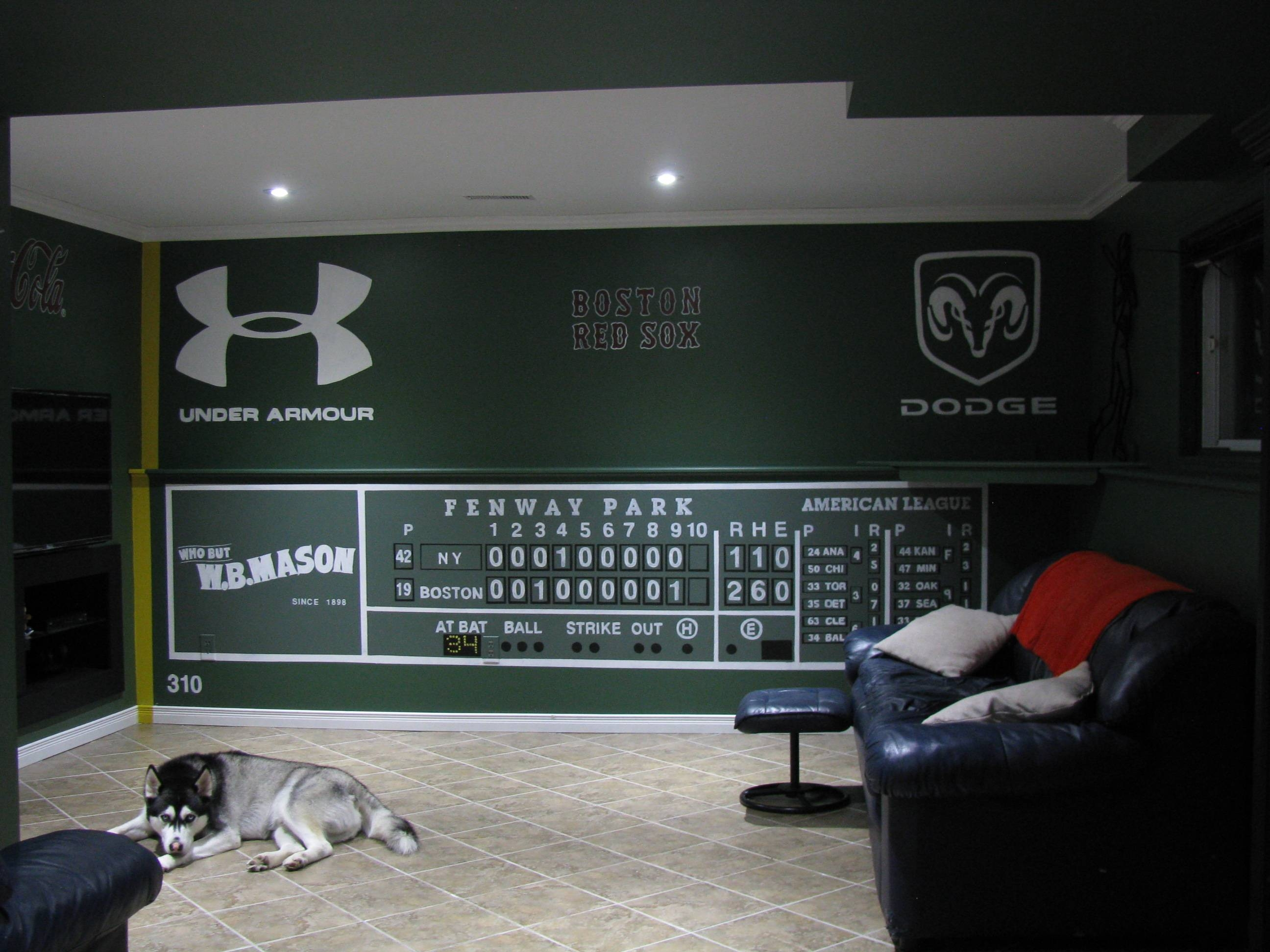 Jordans Red Sox Promotion 2017 Bedroom Fenway Green Monster Wall regarding Most Up-to-Date Boston Red Sox Wall Art