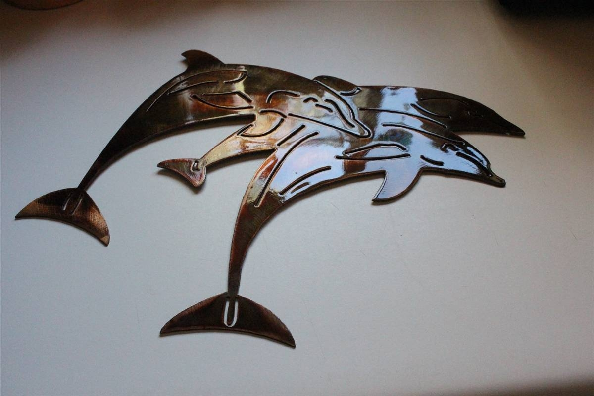 Jumpingdolphin 2 In Newest Dolphin Metal Wall Art (View 18 of 25)