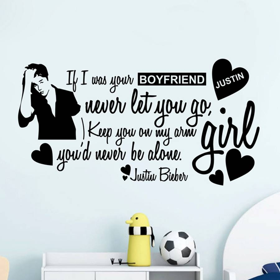 Justin Bieber Boyfriend Children Wall Art Mural Sticker Poster Regarding Most Recent Justin Bieber Wall Art (View 9 of 20)